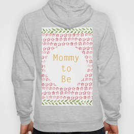 Mommy to be - watercolour pattern Hoody