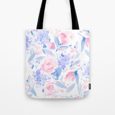 Scattered Lovers Blue on White Tote Bag