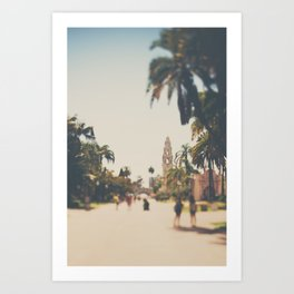 walking through Balboa Park in San Diego, California Art Print