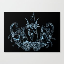 Sea Posse VI - Cherub Canvas Print