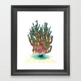 Hiding Out Framed Art Print