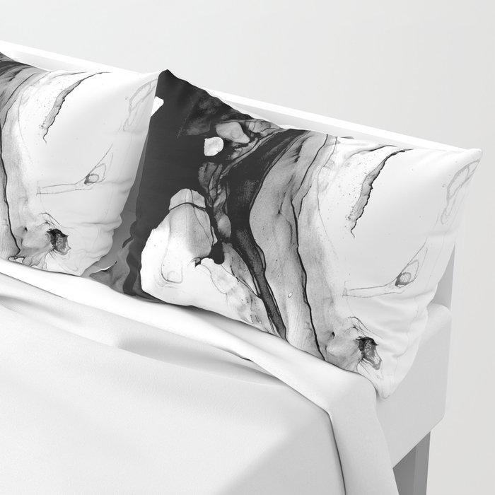 Soft Black Marble Pillow Sham
