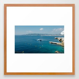 Antibes by no trophies, 2016 Framed Art Print