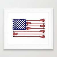 lacrosse Framed Art Prints featuring Lacrosse AmericasGame by YouGotThat.com