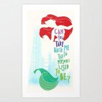 ariel Art Prints featuring ariel by Sara Eshak