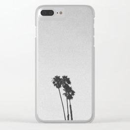 PALM TREES III / Santa Cruz, California Clear iPhone Case