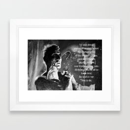 Like tears in rain - black - quote Framed Art Print