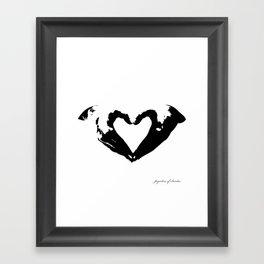 La voix du coeur | 心臟的聲音 Framed Art Print