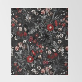 EXOTIC GARDEN - NIGHT IV Throw Blanket