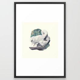 Hand Swan Framed Art Print