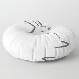 Zen Snow Bunny Floor Pillow