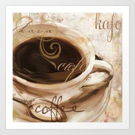 Le Cafe I Art Print