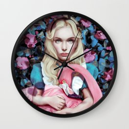 """Alice in Wonderland"" by Giulio Rossi Wall Clock"