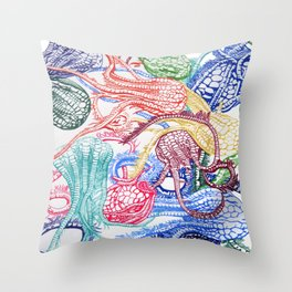 Crinoids Throw Pillow