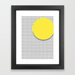 Memphis Yellow Framed Art Print