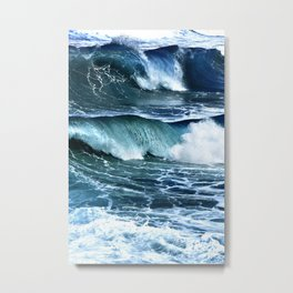 Deep Blue Waves Metal Print