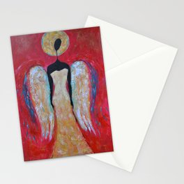 Angel of Love Painting Guardian Angel Christmas Angel for Wall Stationery Cards