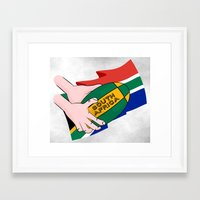 south africa Framed Art Prints featuring South Africa Rugby by mailboxdisco