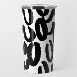 Brushy black and white - classy college student collection Travel Mug