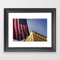 Cornice with flag Framed Art Print
