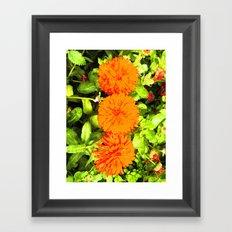 Pop Art Flowers Framed Art Print