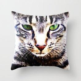 Big Cat Face Throw Pillow