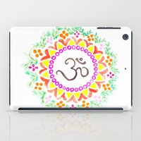 ohm iPad Cases featuring Ohm / OM  by HollyJonesEcu