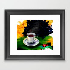 tea cup Framed Art Print