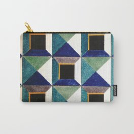 Geometric pattern from tile museum in Lisbon, Portugal Carry-All Pouch