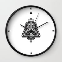 card Wall Clocks featuring Darth Vader Card by Sitchko Igor