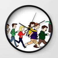 parks Wall Clocks featuring Parks Department by Anna Valle