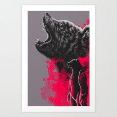 I'm a bear Art Print