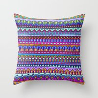 emerald Throw Pillows featuring Emerald by Erin Jordan