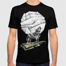 Wolfpaper Black Mens Fitted Tee MEDIUM