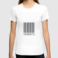 hogwarts T-shirts featuring hogwarts barcode by Muggle Merch