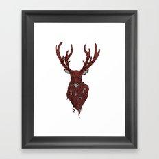 The Stag Framed Art Print