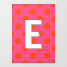 E Custom Listing Canvas Print