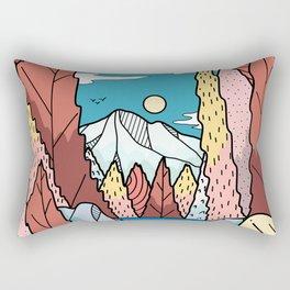 A view downstream Rectangular Pillow