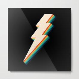 Vintage Lightning Bolt Metal Print