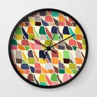 ikat Wall Clocks featuring ikat weave by Sharon Turner