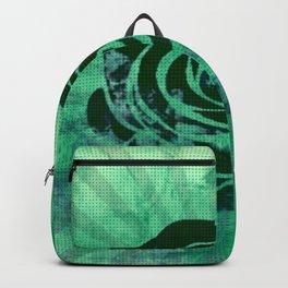 green watercolor rose Backpack