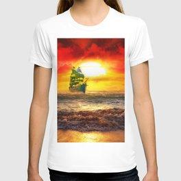 Black Pearl Pirate Ship T-shirt
