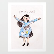 I can fly Art Print
