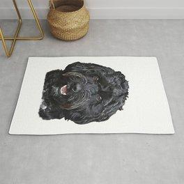 Black Cockapoo / Doodle Dog Portrait  Rug
