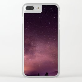 Purple Sky over Mountains Clear iPhone Case