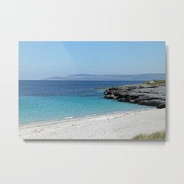 White sandy beach at the Aran Islands Metal Print