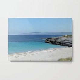 White sandy beach at the Aran Islands Metal Print