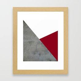 Concrete Burgundy Red White Framed Art Print