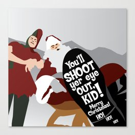 You'll shoot yer eye out, kid! Canvas Print