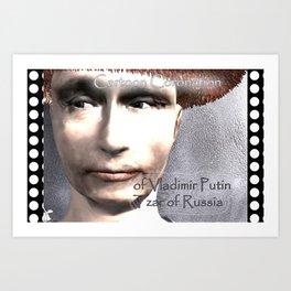 Cartoon Coronation of Vladimir Putin Tzar of Russia Art Print